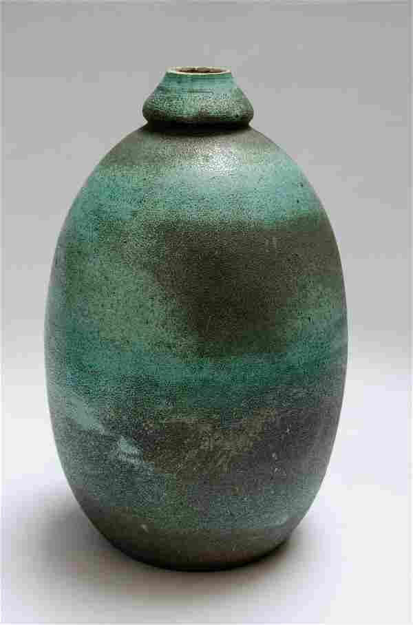"Jean Besnard Ceramic Vase Art Deco H: 10"" France"