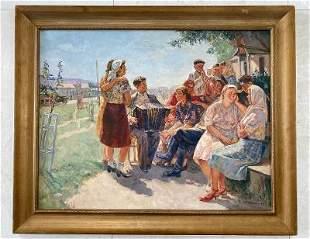 Maria Savchenkova - Oil on Canvas - Soviet Art