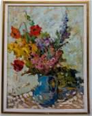 "Oil on Wood 24"" x 16"" Unframed - Mystery Artist"
