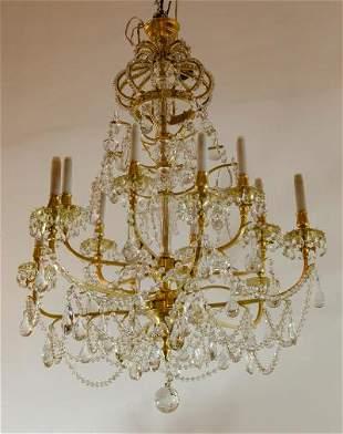 Gilt Bronze & Crystal Magnificent Chandelier France