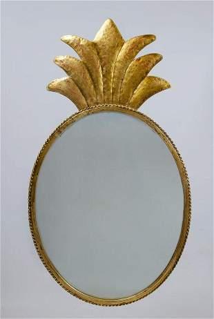 "Gilbert Pollerat Style Art Deco Mirror 32"" x 18.5"""