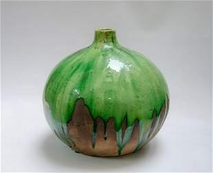 """Atelier Primavera - Art Deco Ceramic Vase H: 11.5"""""""