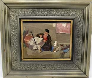 Large Pietra Dura Panel Woman with Umbrella, Florence