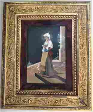 """Excellent Pietra Dura Panel 10"""" x 8"""" Italy"""