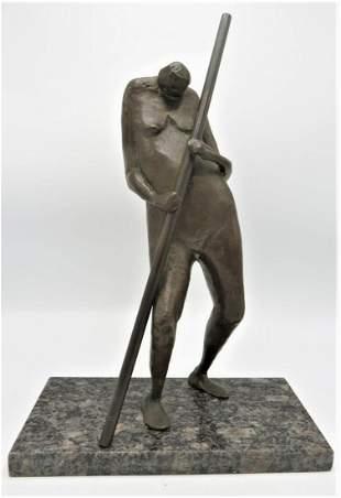 Carlos Prada Bronze Figure - Venturi Art - Bologna H: