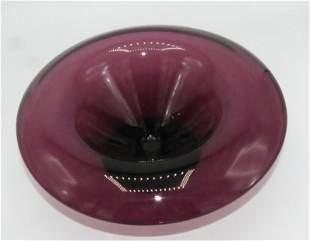 Steuben bowl/centerpiece Amethyst color .Marked.