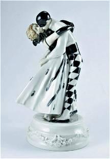Rorstrand Art Deco Porcelain Harlekin & Columbine 1910