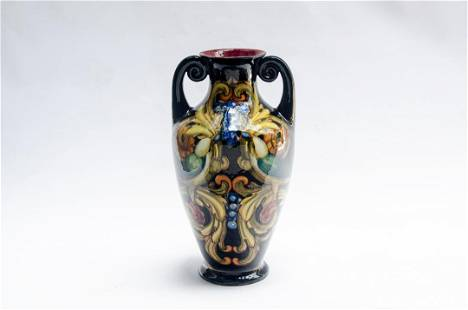 "Renato Bassanelli Ceramic Vase H: 13.5"" Rome - Italy"