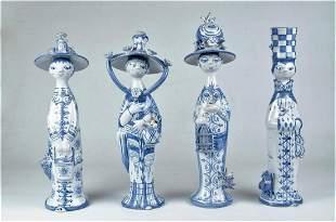 "Bjorn Wiinblad Pottery Figures 4 Seasons H: 13"" Denmark"