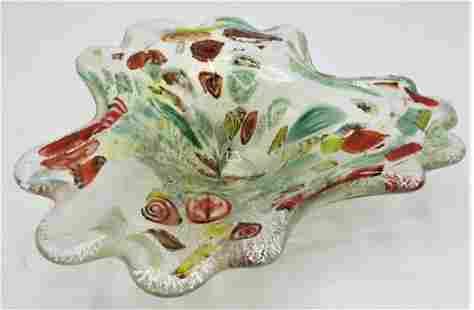 """Murano Glass Centerpiece Multicolor 8"""" x 9"""" Italy"""