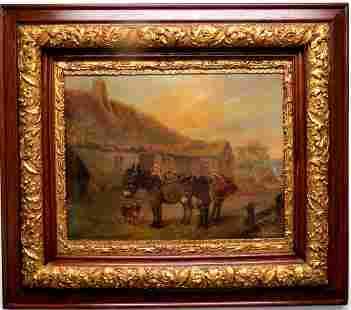 """G. D. Wood Oil on Canvas C. 1880 COA 31"""" x 27"""""""