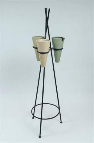 """Mathieu Mategot Art Deco Centerpiece H: 33"""" D: 8"""""""