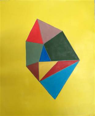 "Solomon ""Sol"" Lewitt - Acrylic on Paper 13.5"" x 11.3"""