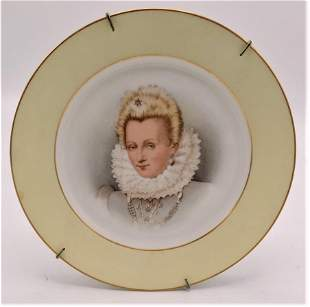 "Sevres Porcelain Plate Diam: 9"" France"