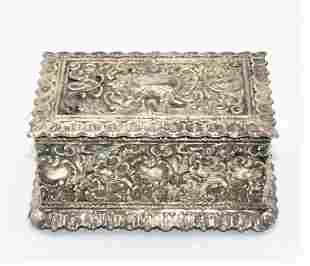 "WMF Art Nouveau Jewelry Box H: 4"" W: 5"" D: 3"" Germany"