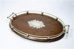 "Antique English Tray (1900s) 22"" x 14"""
