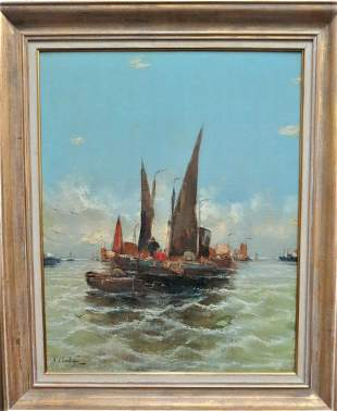 Georg Fischhoff (J Claiton), Oil on Canvas