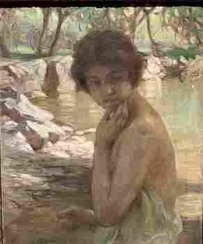 """Paul Chabas - Oil on Canvas 29"""" x 24"""" Unframed"""