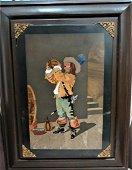 "Magnificent Pietra Dura Plaque 14"" x 11"" Fr: 18""x 15"""