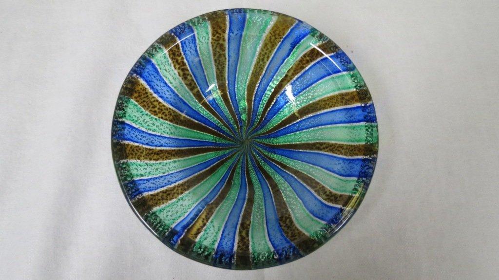 022: Murano Glass Ashtray , Iridescent