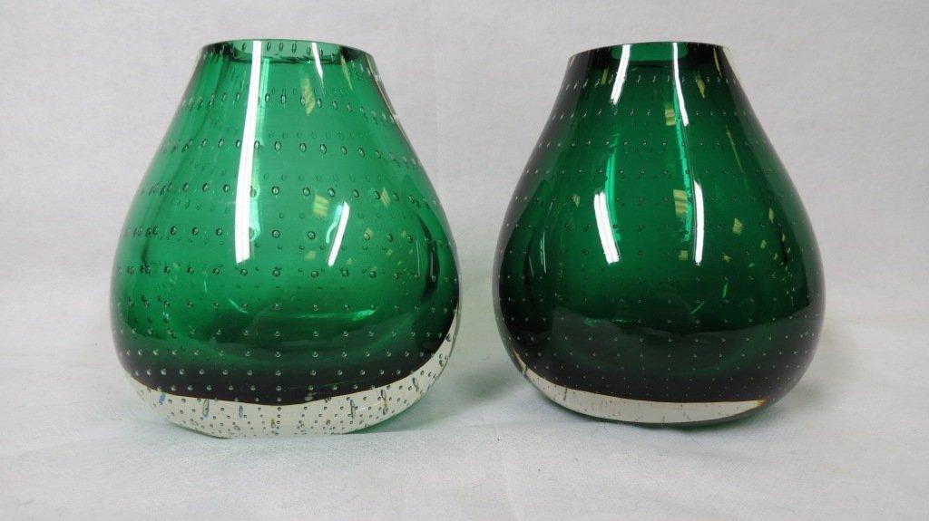 023: Pair of Murano Glass Vases
