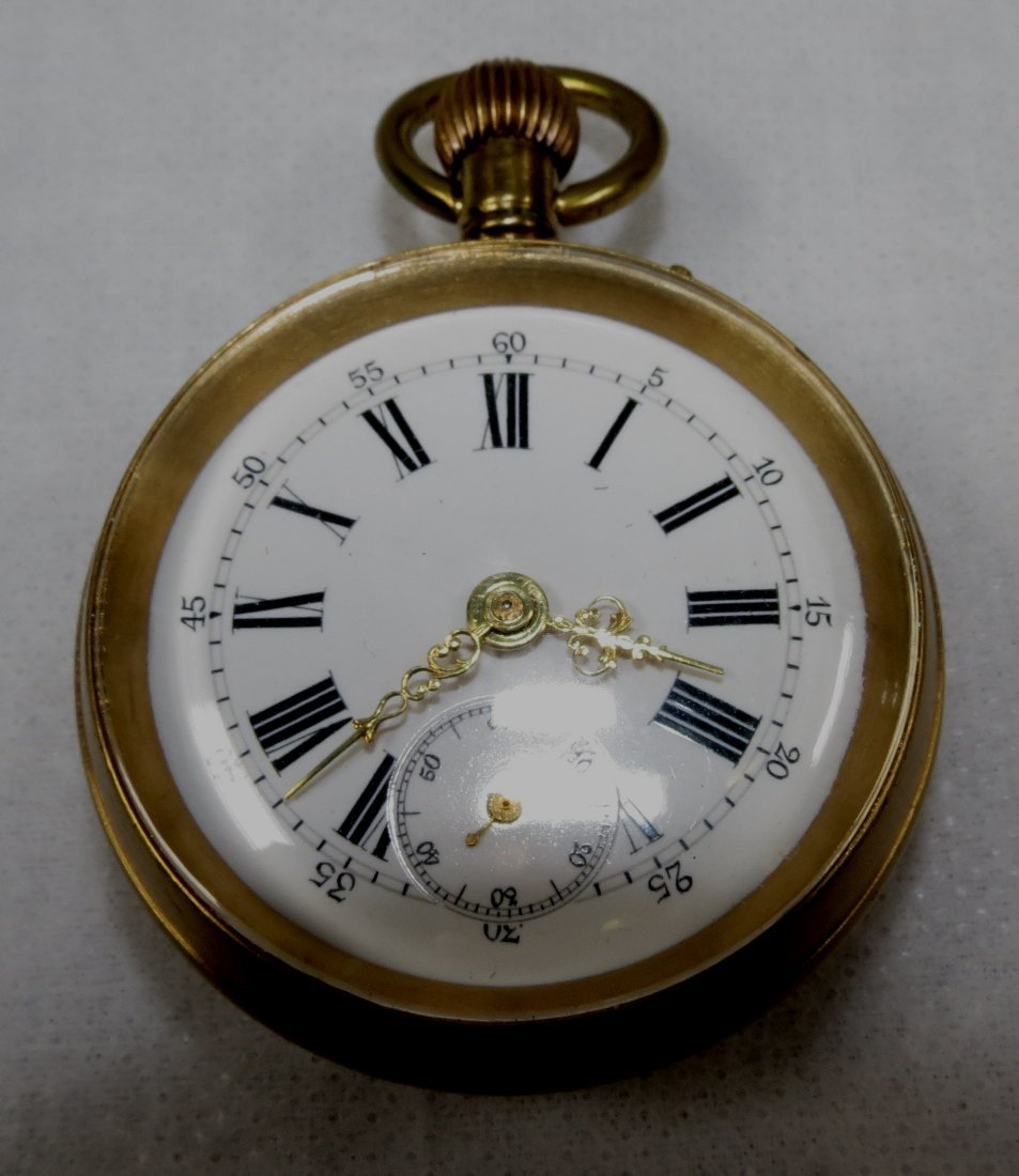 407: Pocket Watch, Bronze - Swiss