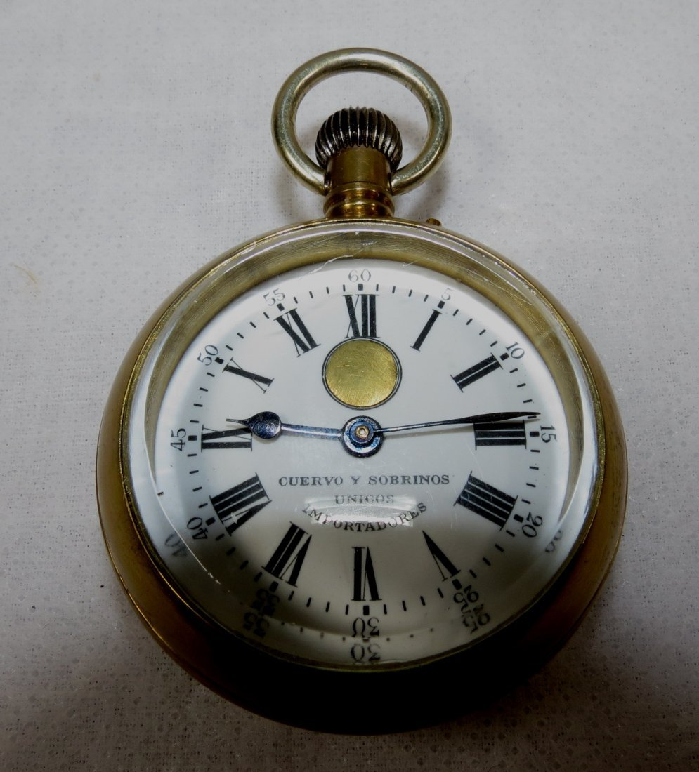 408: Pocket Watch, Bronze, Cuervo y Sobrinos