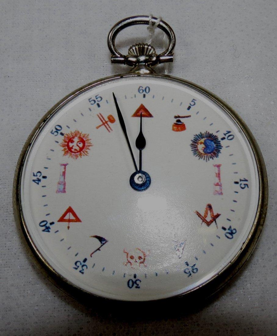 416: Pocket Watch, Enamel, Bolaro Swiss