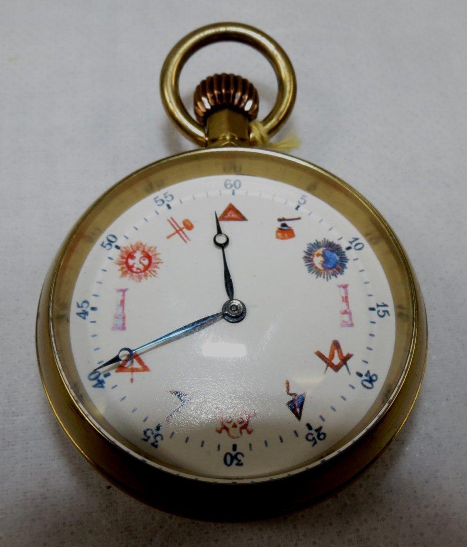 421: Pocket Watch, Enamel, Swiss