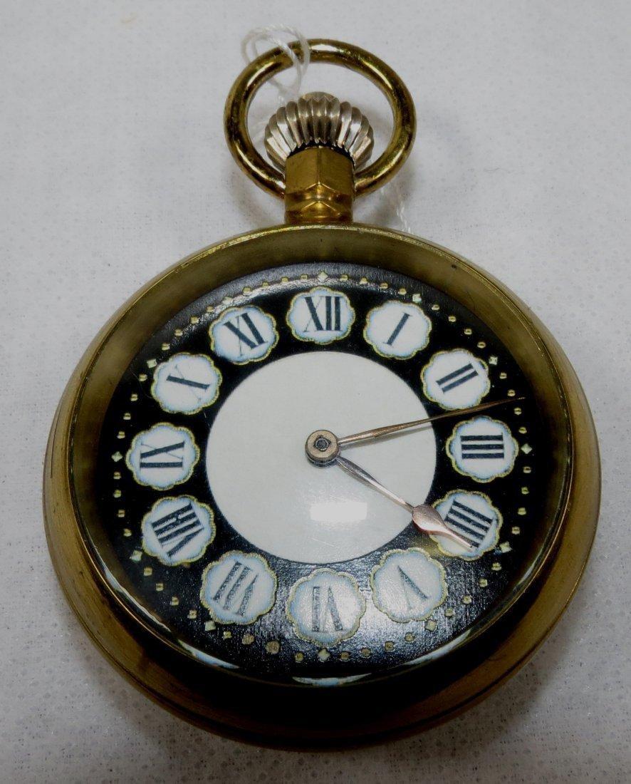 422: Pocket Watch, Enamel, Locomotive