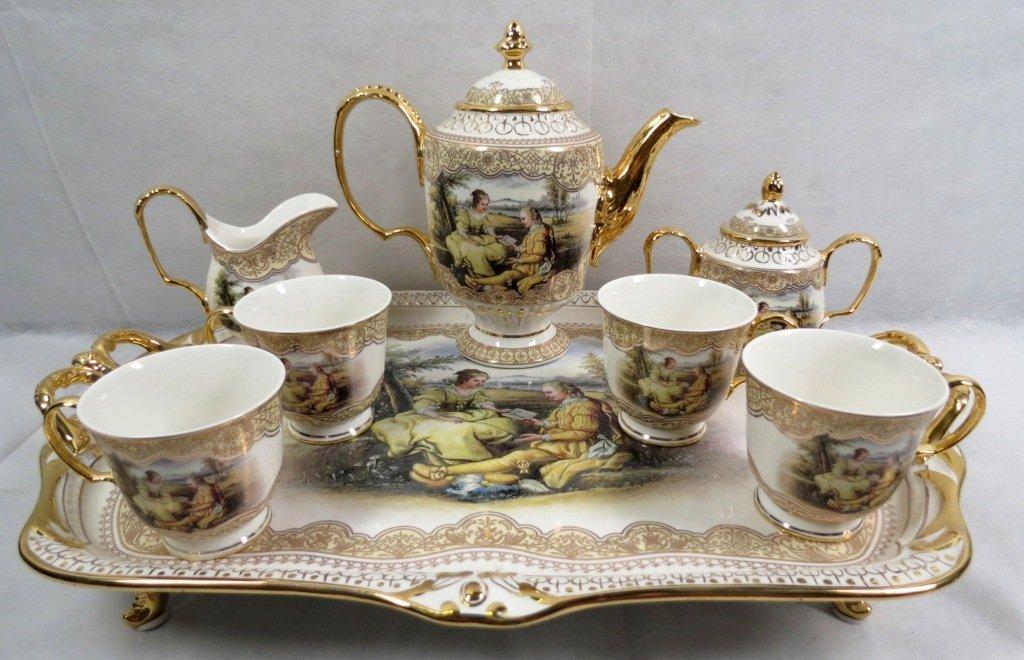 610 limoges china tea set 8 pieces. Black Bedroom Furniture Sets. Home Design Ideas