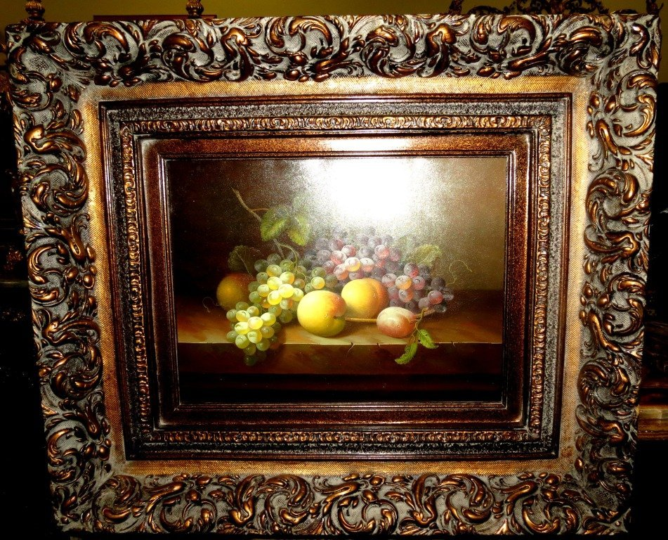 1004: Oil on Canvas. Fruits. 20th Century