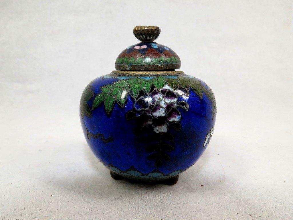 1013: Enamel Mini Vase, Cloisonné