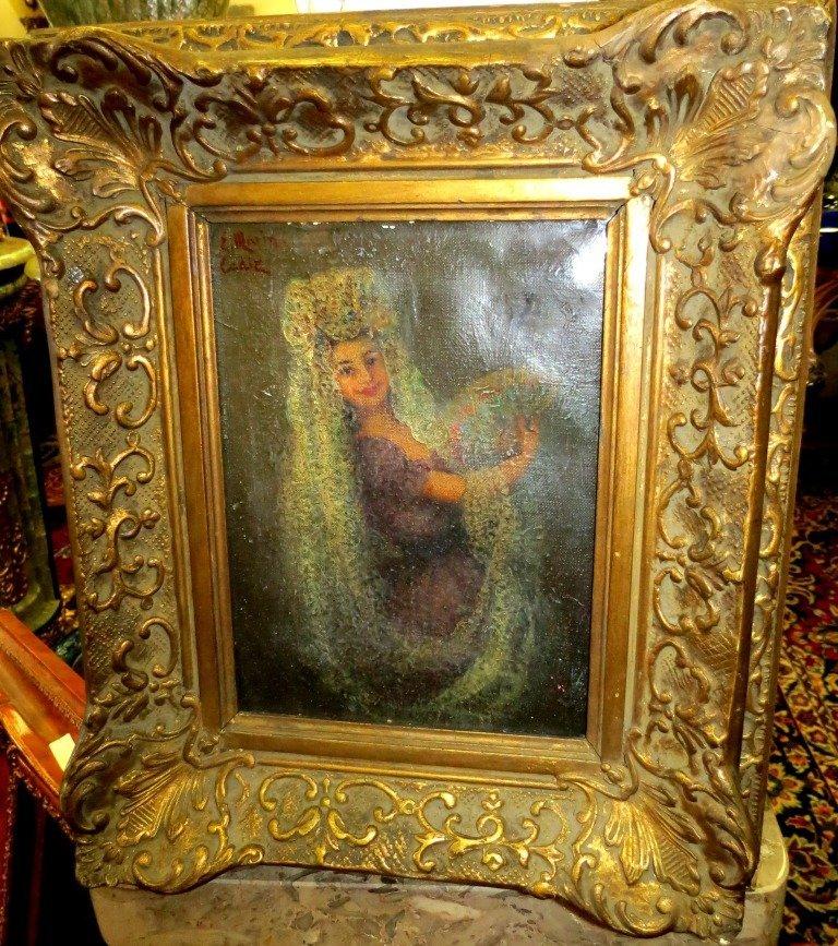 1022: Oil on Canvas, Marin. 1894 Spain