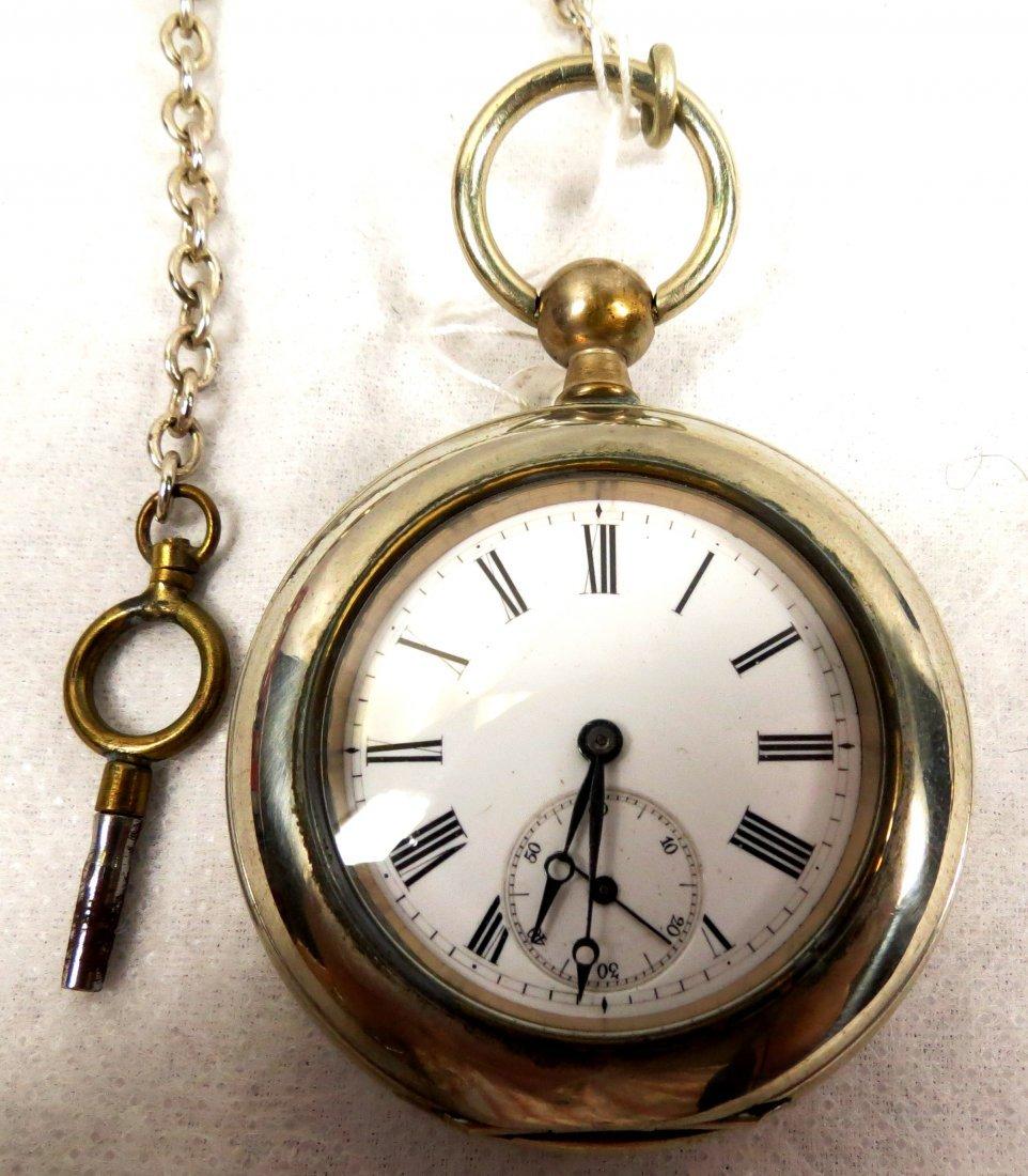 1023: Cuervo y Sobrinos Pocket Watch, Cuba, Bronze