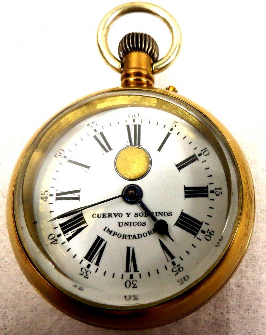 1024: Courvoisier Freres Pocket Watch w/ Key