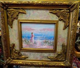 1003: Oil on Canvas. Lady on the Beach