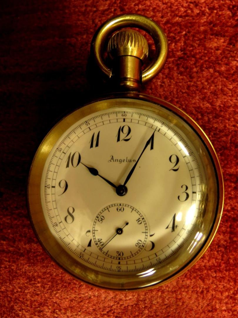 1004: Pocket Watch , Angelus, Swiss Made