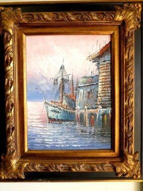 1012: Oil on Canvas. Marine
