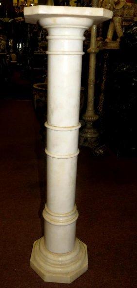 1018: Alabaster Pedestal. circa 1940