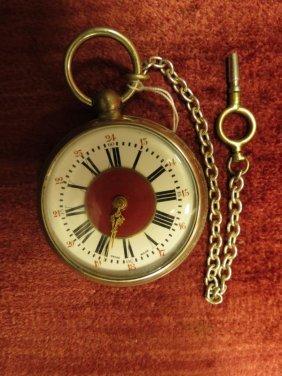 1022: Pocket Watch, w/Original key, Swiss made