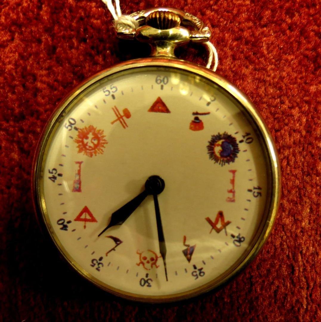 1023: Pocket Watch Masonic symbols