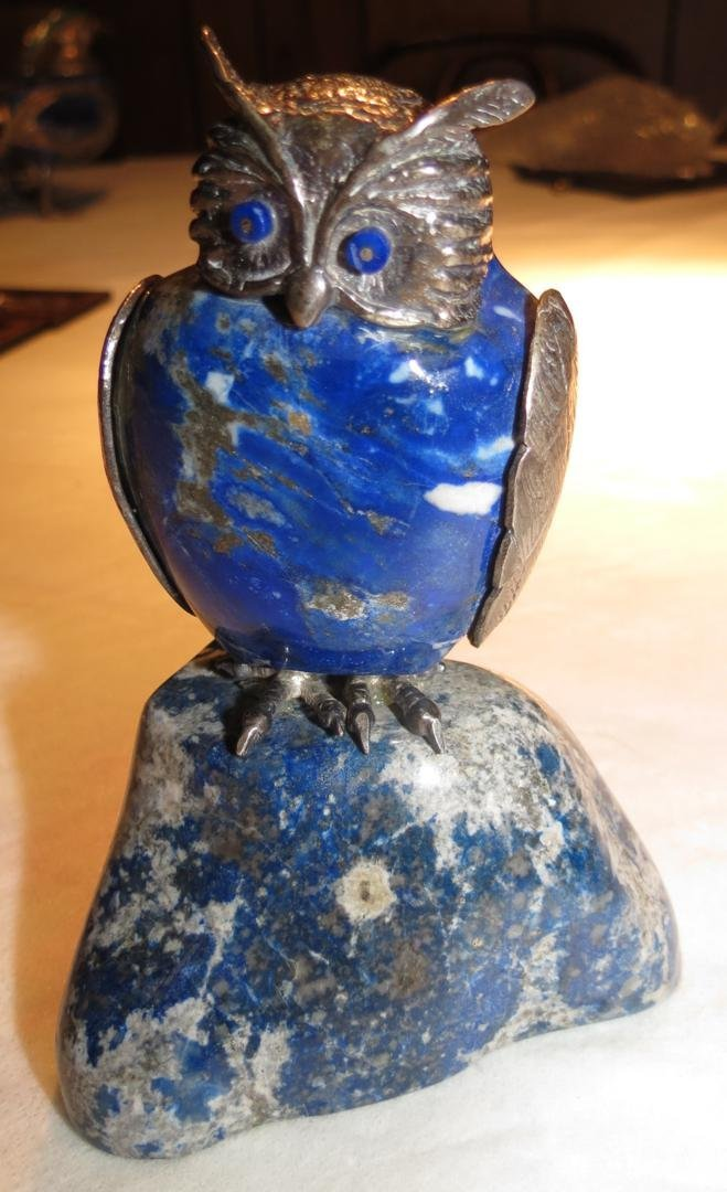 1208: Lapis Lazuli and Sterling Owl
