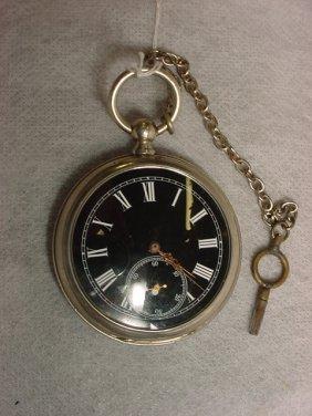 Pocket Watch W/Key, Swiss,
