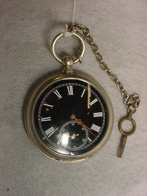 1004: Pocket Watch w/Key, Swiss,