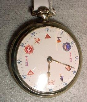 Pocket Watch, Masonic Symbols, Swiss Made