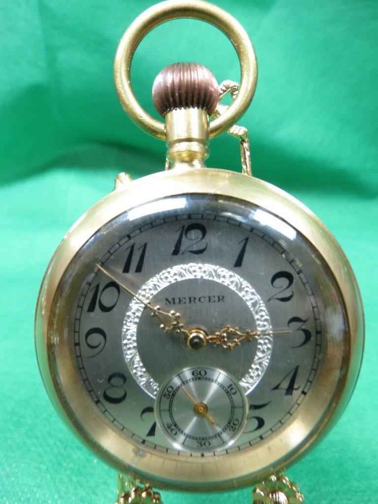 1009: Pocket Watch , Mercer, Switzerland mark on face