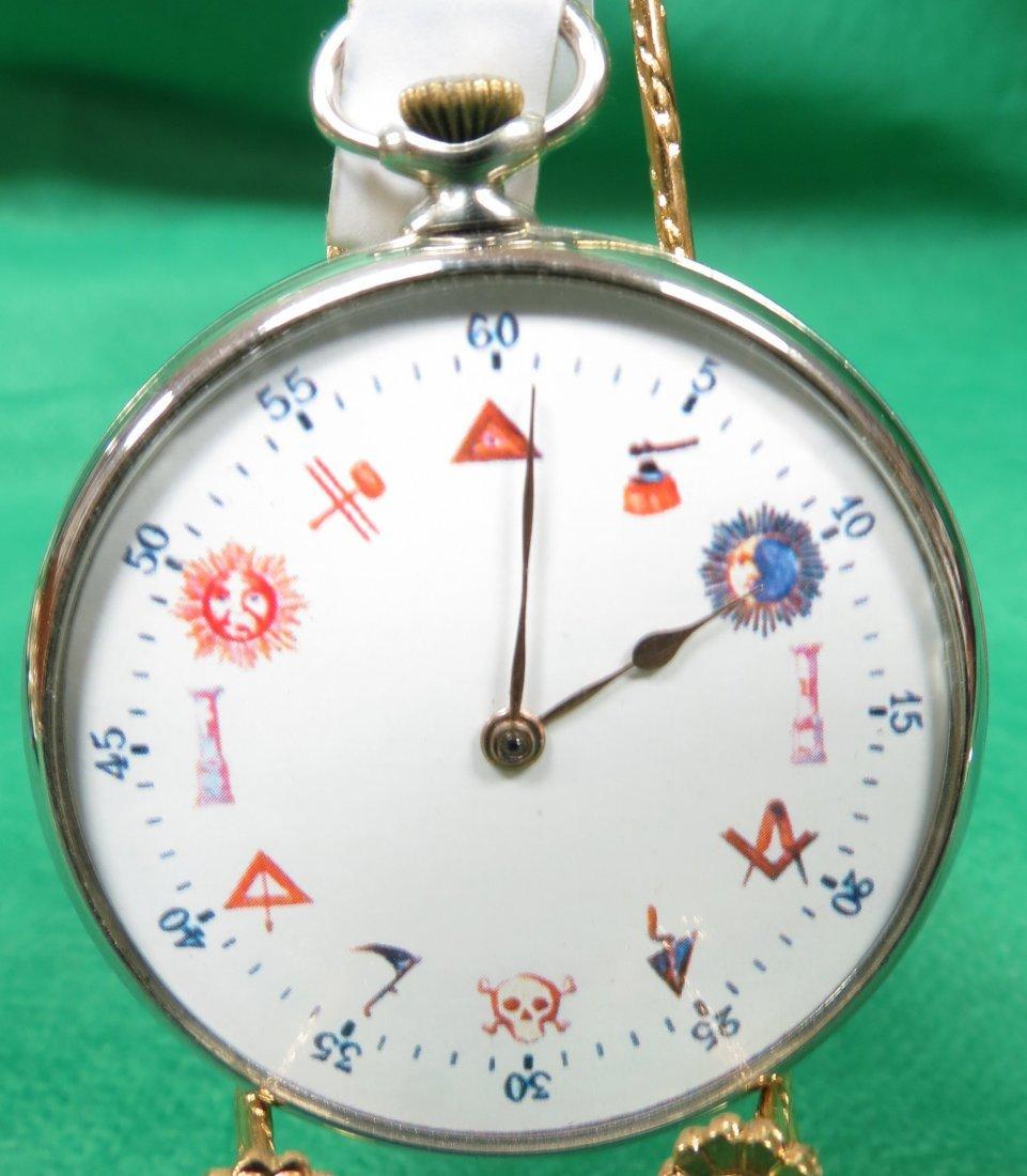 1019: Pocket Watch, Masonic Symbols