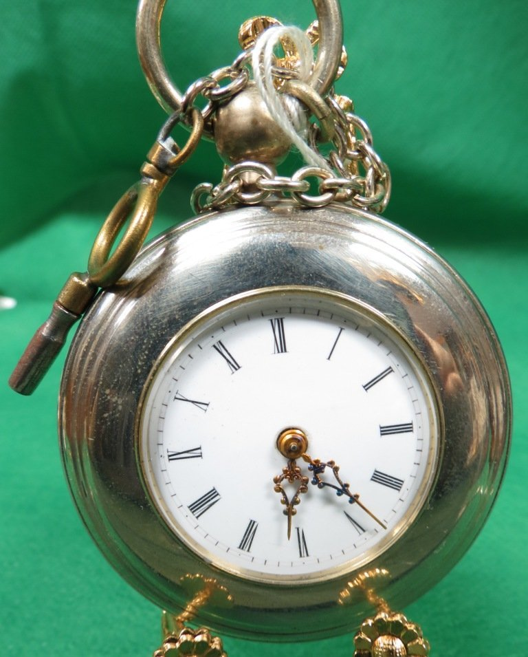 1020: Pocket Watch,  with Key and chain