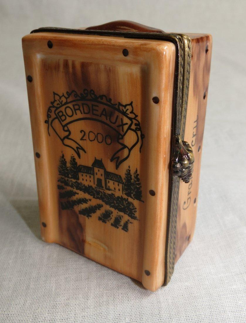 """1458: Limoges Hand Painted Box  """"Bordeaux"""" 90/1000"""